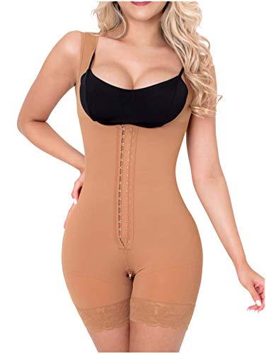Sonryse 211BF Fajas Colombianas Reductoras Moldeadoras Postparto BBL Stage 2 Liposuction Post Surgical Compression Garments Women Shapewear Mocha S