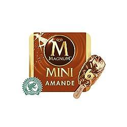 Magnum Mini Almond Multipack Ice Cream Stick, 60ml (Pack of 6) - Frozen