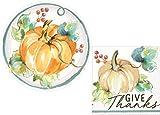 Fall Pumpkin Harvest Party Supply Kit: Autumn Theme Appetizer/Dessert Bundle Includes Paper Plates & Napkins for 16 People