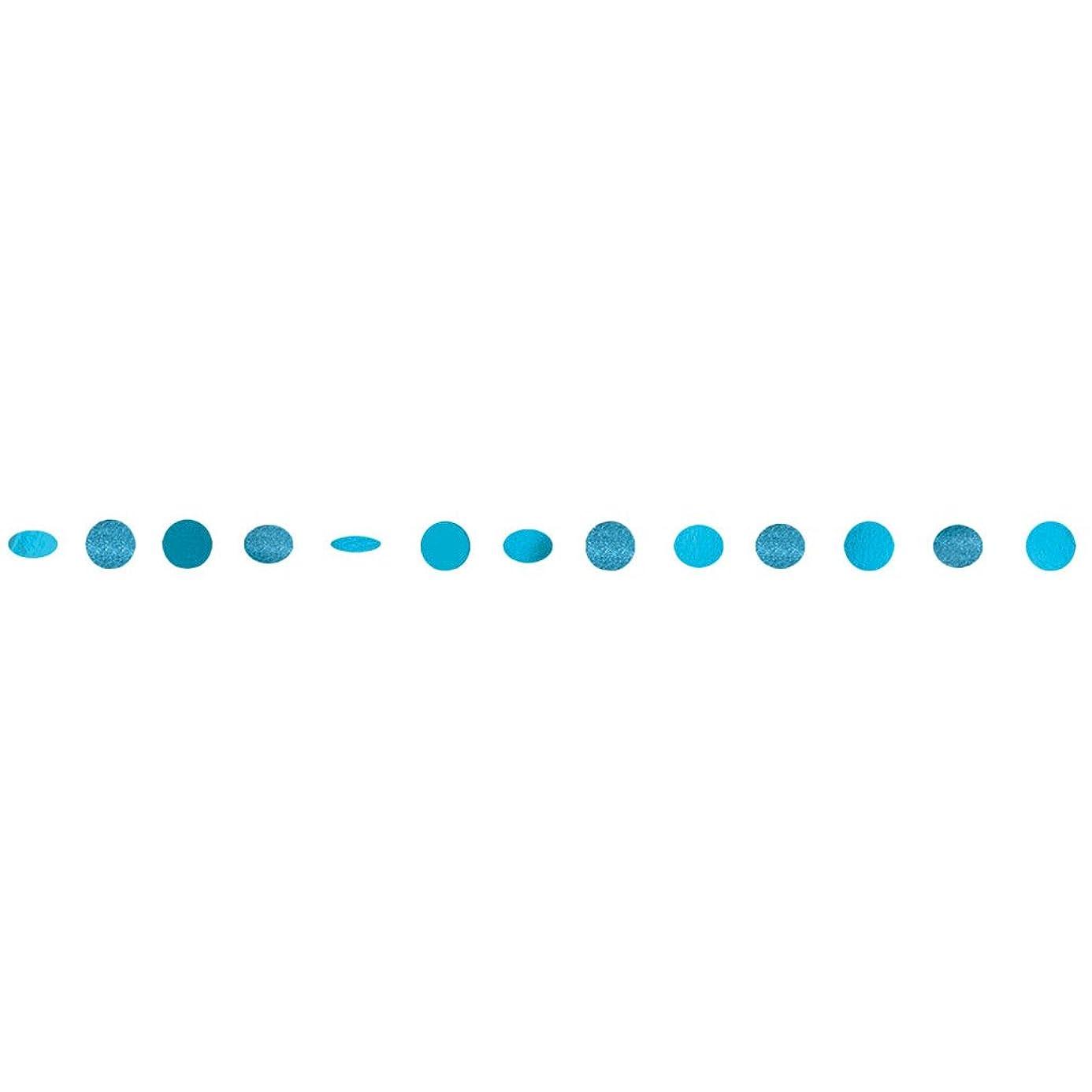 Amscan 672424.54 Round Glitter String, 7 feet, Caribbean Blue wwi1119954