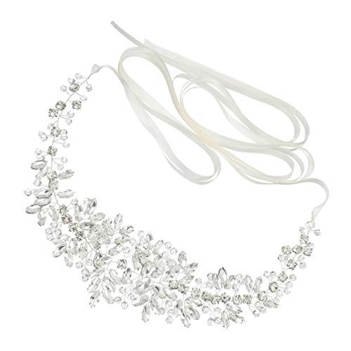 PRETYZOOM Diamantes de Imitación Cinturón Nupcial Dama de Honor Faja Cristal Boda Cinturón Vestido Apliques Accesorios para Vestido de Dama de Honor Nupcial