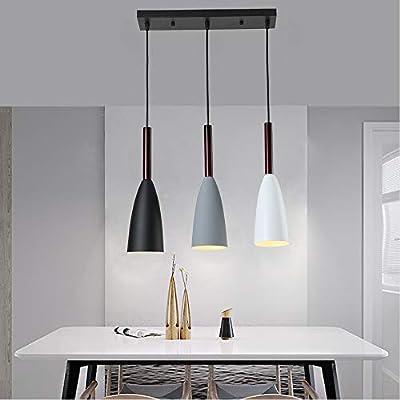 Industrial Antique Kitchen Island 3-Light Vintage Industrial Pendant Light Fixture Metal Ceiling Lamp Hanging Light Fixture,Industrial Retro Adjustable Hanging Lighting