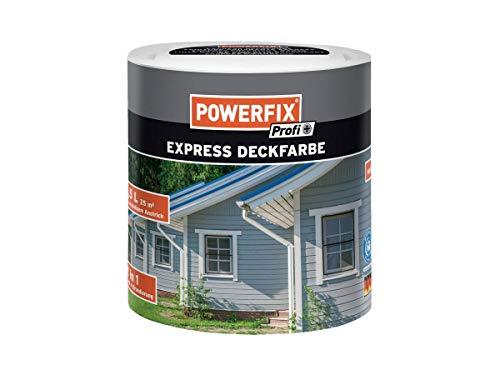 POWERFIX® Express-Deckfarbe 2,5 Liter Weiß 2 in 1: Lack + Grundierung für innen und außen