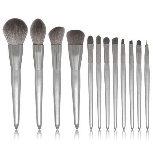 Beashine Make-up Pinsel, 12pcs Schminkpinsel Set, Advanced Moonlight Silver Tragbares Make-up-Pinsel-Kit Eye Synthetisches Make-up-Pinsel-Set für die Gesichtsbehandlung (Moonlight Silver)