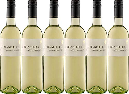 6x Sulzfelder Maustal Müller-Thurgau trocken 2018 - Weingut Brennfleck, Franken - Weißwein