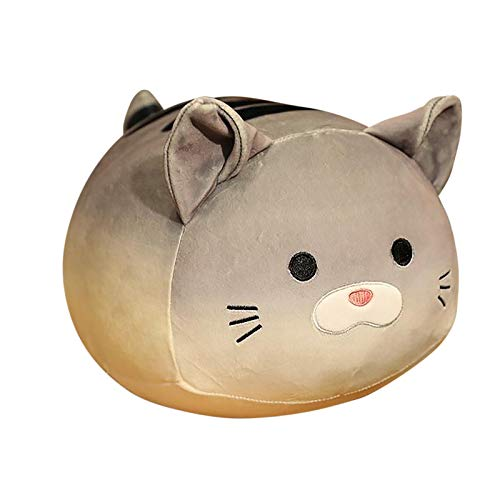 Cat Plush Toy Pillow Stuffed Animal Cat Soft Toy Bread Cat Doll Sleeping Pillow, Cuddly Soft Cartoon Animal Dolls, Great Gift for Boys Girls Party Gift Birthday Children (Gray)