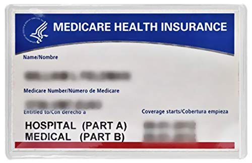 5 New Medicare Card Holders Protector Sleeves Clear 6mil