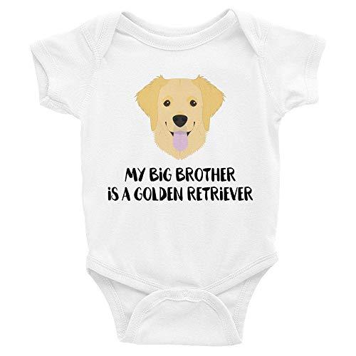 Toll2452 Body para bebé, lindo Golden Retriever ropa de bebé para amantes de los perros mamá a ser bebé traje mono