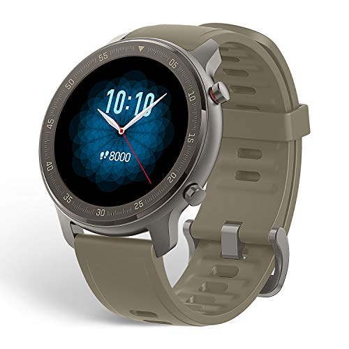 """Amazfit GTR 47 Reloj Inteligente Smartwatch Deportivo AMOLED de 1.39"""" GPS GLONASS Integrado Frecuencia Cardíaca de 24 Horas Larga duración de batería 12 Deportes Diferentes Titanium"""