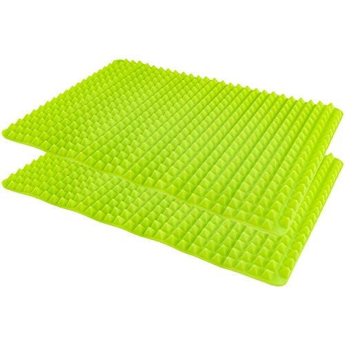 Southern Homewares Healthy Homewares Raised Silicone Baking Sheet Non-Stick Cooking Mat Oven Tray Liner Green Set of 2