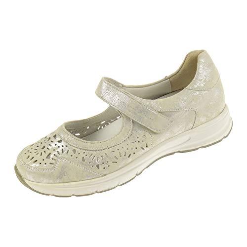 Semler dames schoenen sandalen Ballerina halve schoen zomerschoen Ulla wit U5045031010