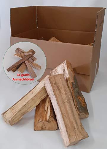 Joma-Tech - Bois de chauffage - 25 kg - Bois de chauffage - Bois de cheminée séché à la chambre - Dans un emballage carton - Vous recevrez un sac de bois de chauffage « Offert »