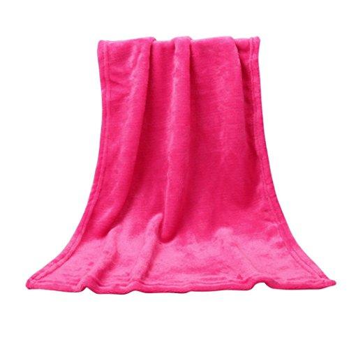 LILICAT Kuscheldecke TV-Decke Wohndecke Fleecedecke Sofadecke Klimaanlage Babydecke Decke flauschig warm kuschelig Coral Fleece Mikrofaser Schmusedecke Tagesdecke (50X70CM, Pink)