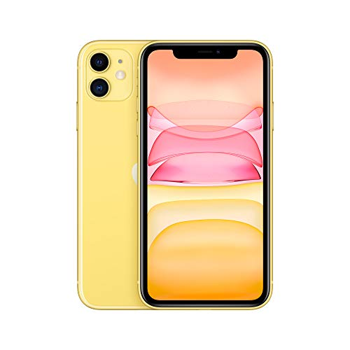 Apple iPhone 11 (64 GB) - Amarillo (incluye Earpods, adaptador de corriente)