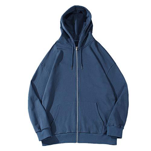 Chaqueta deportiva suelta y sencilla para mujer, con capucha, para parejas, suéter