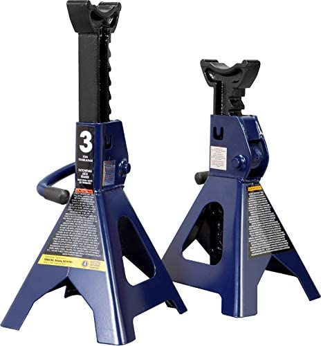 TCE AT43202U Torin Steel Jack Stands 3 Ton 6 000 lb Capacity Blue 1 Pair product image