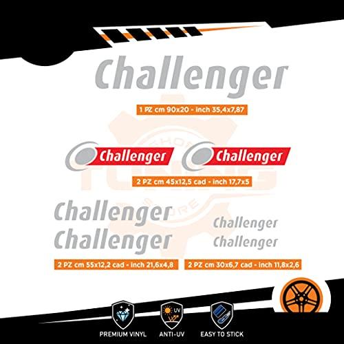 Generico Kit Adesivi Camper Challenger - Versione A