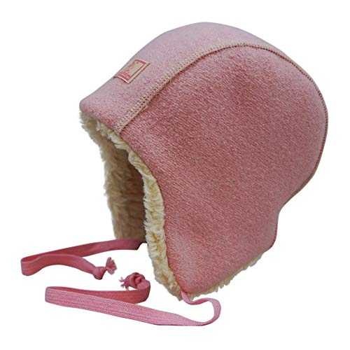 PICKAPOOH Baby/Kinder Wintermütze Jan Bio-Wollwalk/Bio-Baumwolle, Light Pink, 44