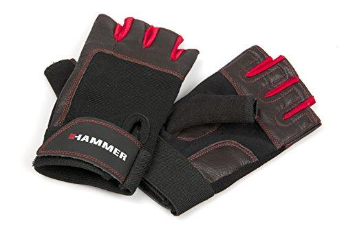 Hammer Boxhandschuhe Fitnesshandschuhe, Schwarz/Rot, L