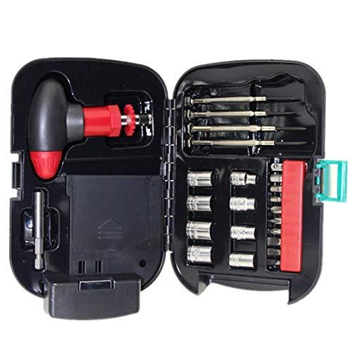 Hiinice Juegos de Destornilladores Linterna Kit de Herramientas de la Caja de bit T trinquete manija de reparación de Hardware de la Manga de la antorcha de luz Conjunto 24PCS