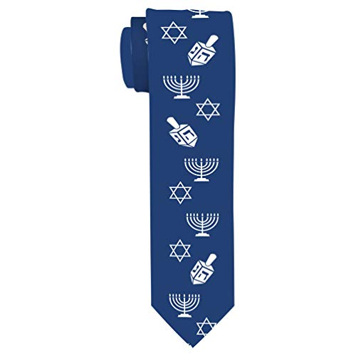 Funny Hanukkah Tie for Men Hanukkah Tie Humorous Hanukkah Gifts Ugly Hanukkah Sweater Necktie