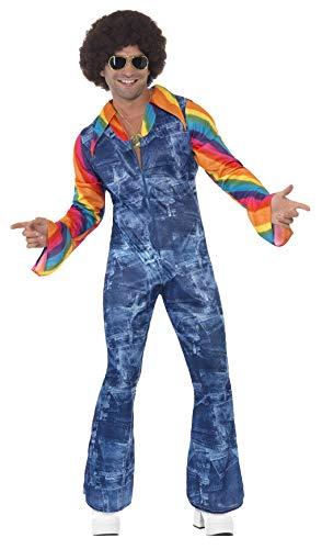 Smiffys Disfraz de bailarín guay, con enterizo de efecto denim y camisa postiza