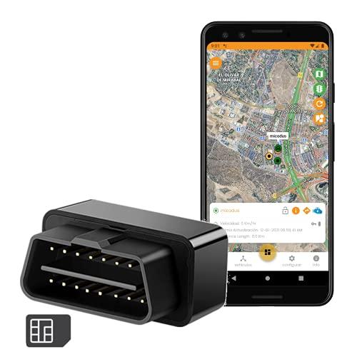GPS para Coche [findCar OBD GPS]. GPS OBD - Sin Instalación. Localización en Tiempo Real. Alarma: Exceso Velocidad, Antirobo y Geovalla