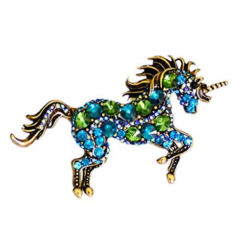 Culer Escudo Broche De La Aleación De La Vendimia De La Broche del Unicornio Pecho Pin...