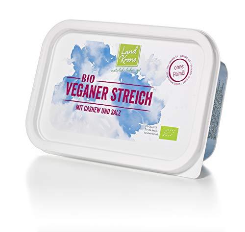 Landkrone Bio Veganer Streich, 250 g Pflanzen-Margarine ohne Palmöl - palmölfrei mit Cashew und Meersalz