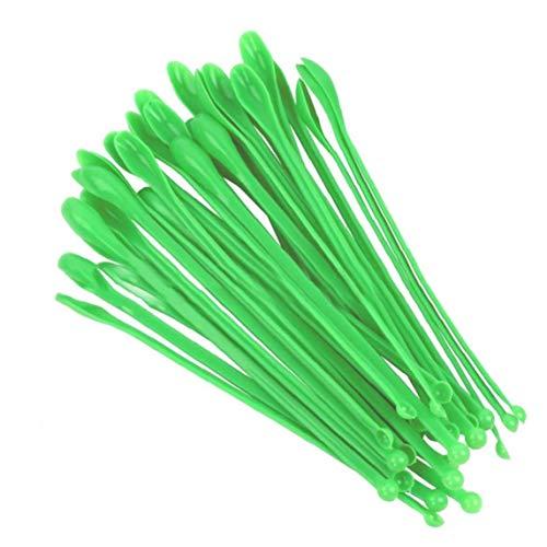 Angoter 1 Juego De Plástico Durable De Muestreo De Cucharas Laboratorio De Mezcla Espátulas De Laboratorio para La Escuela Cucharadas Restaurante Laboratorio De Inicio De La Tienda Verde