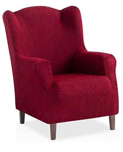 Bartali Stretch Husse für Ohrensessel Aitana - Farbe Granatrot - 1 Sitzer (von 70 bis 110 cm)