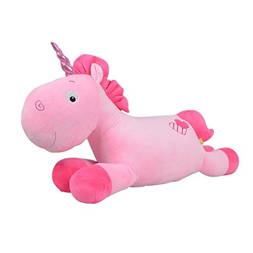 JYSPORT unicornio cojines - Juguetes de peluche suave almohada, rosa, 50cm ...