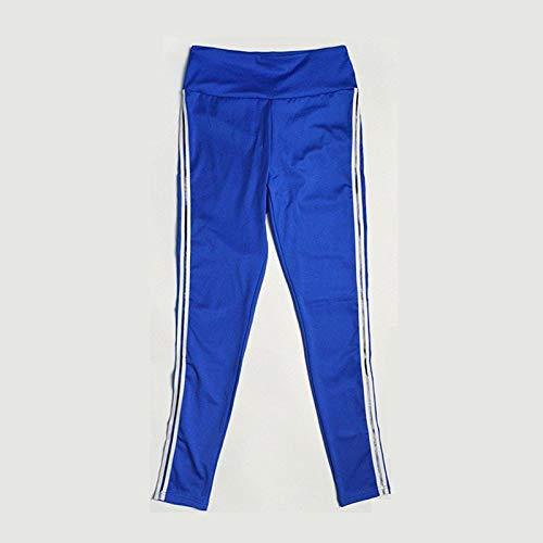MOHAMED Deportes y Pantalones de Yoga de la Aptitud Que Basa la extensión del Blanco Pliegues Laterales de la Manera Simple (Color : Blue, Size : M)