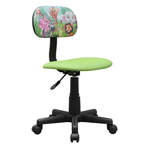 HTI-Line Kinderdrehstuhl Toto Dschungel Schreibtischstuhl Bunt Motiv Bürodrehstuhl Bürostuhl Drehstuhl