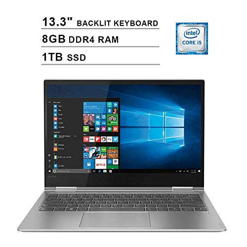 2020 Lenovo Yoga 730 13.3 Inch FHD IPS 2-in-1 Touchscreen Laptop (Intel Quad-Core i5-8250U up to 4.6GHz, 8G RAM, 1TB...