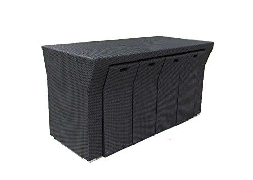 husen Outdoor Modular Rattan Patio Furniture Bar Set& Table Prevalent