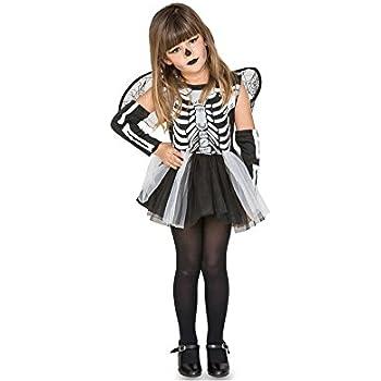 Fyasa 706460-t00 esqueleto niña disfraz, pequeño: Amazon.es ...
