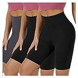 Women's Sports Shorts, Damen Motorrad Shorts, High-Taille Yoga-Hosen, komfortabel, weich und...