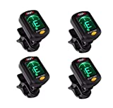 Clip On Guitar Tuner For All Instruments, Ukulele, Guitar, Bass, Mandolin,...