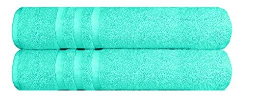 Set di asciugamani (2 pezzi) con 2 asciugamani da bagno/doccia 70 x 140 cm, realizzati in 100% cotone turco morbido antistrappo, 500 g/m²
