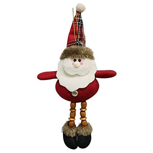 Envisioni - Colgantes navideños para colgar de muñeca, de peluche, adorno para la decoración del árbol de...