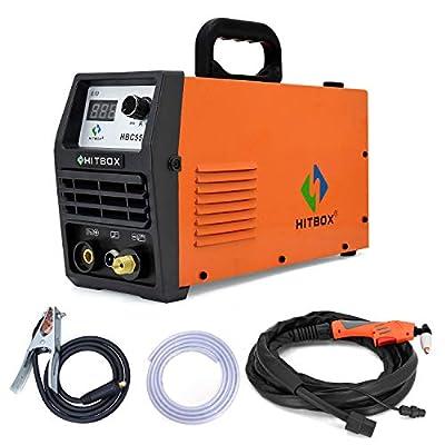 HITBOX 50A Plasma Cutter with Air Pressure Regulator 220V DC Inverter Air Plasma IGBT Cutting Machine 12mm Clean Cut (Model: HBC5500) by SHENZHEN UNITWELD WELDING AND MOTOR