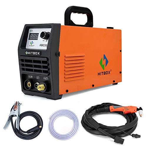 HITBOX 50A 220V空気圧レギュレータ付きプラズマカッターDCインバーターエアプラズマIGBT切断機12mmクリアメタルカッターHBC5500