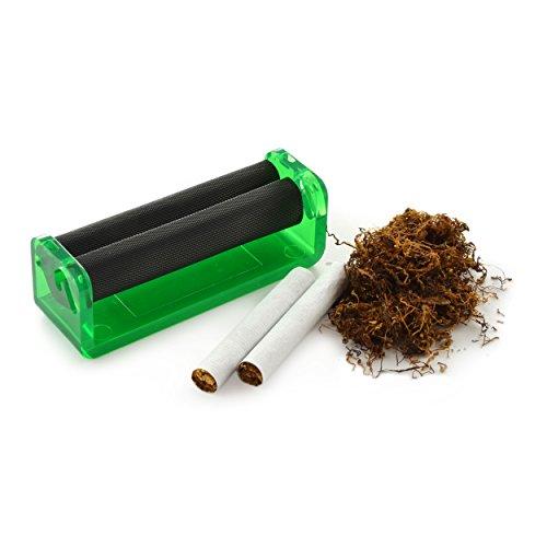 Ganzoo Zigarettendrehmaschine für Drehtabak, Zigarettenroller, Zigarettenwickler, Zigarettendreher, Drehzigaretten Wickler, Dreher, Tabak, Farbe grün, Marke