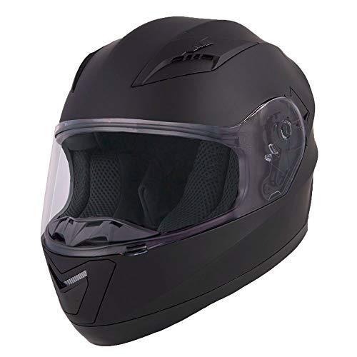 Vinz Integralhelm/Rollerhelm Basic | Motorradhelm in Gr. XS-XXL | Integral Helm mit Visier (XL (61-62 cm), Mattschwarz)