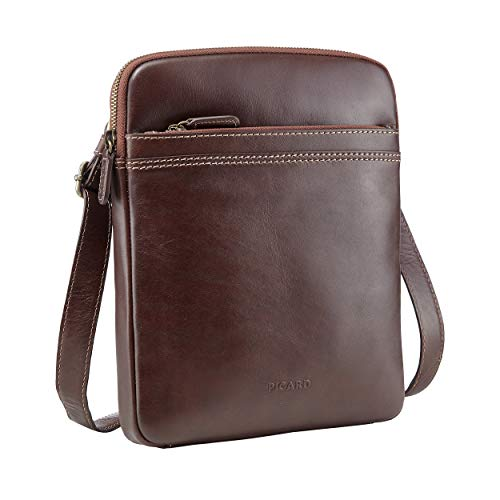 Picard Crossbody Bag Toscana Cuero Small 27 x 22 x 3 cm (H/B/T) Hombre Bolsos de mano (9472)