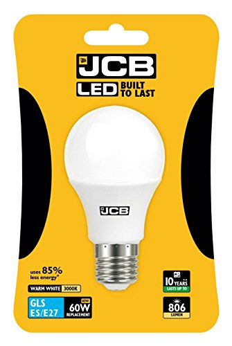 JCB Ampoule GLS Matte 6W / 10W / 15W ES/BC 3000K / 6500K (10W (=60W) ES Culot à vis Edison 3000K Blanc Chaud)