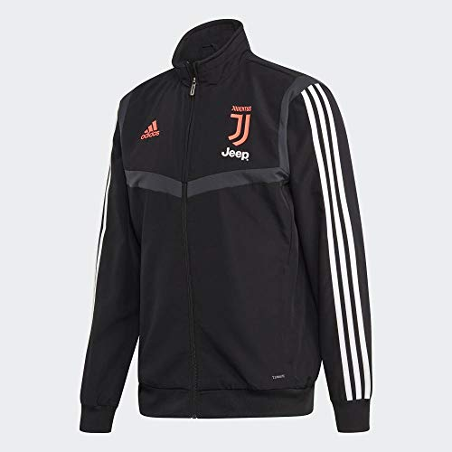 adidas Herren Juve Pre JKT Jacket, Schwarz/Grau, L