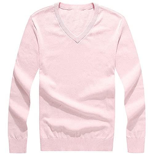 NP Lg Sleeve Pullover Cott Uomo rosa M