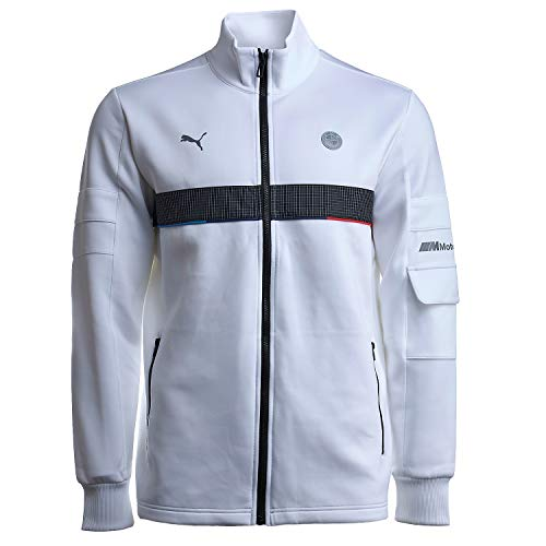 Formula 1 BMW Motorsport Men's Life Sweat Jacket, Puma White, S
